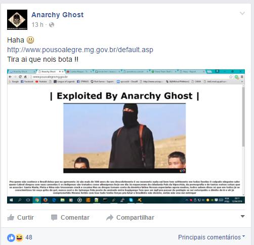 Novo ataque foi postado pelo grupo nas redes sociais.