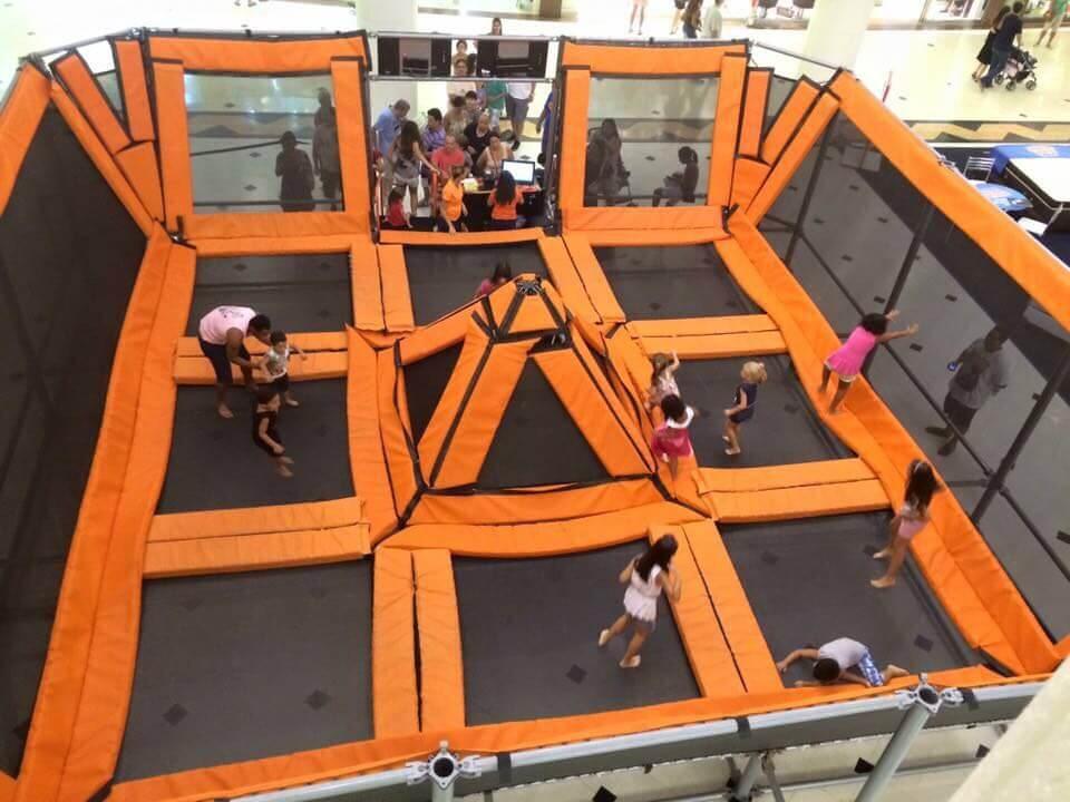Moving Jump tem 144 metros quadrados e 3,5 metros de altura. (Foto: Assessoria)