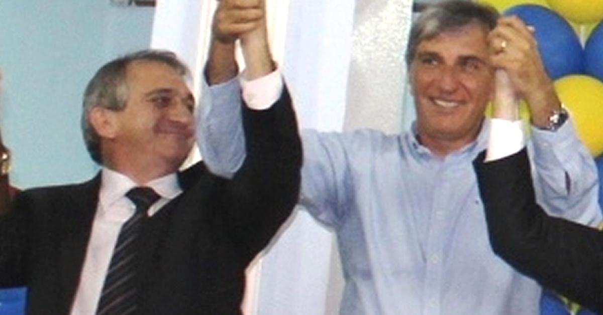 Chico Rafael e Rafael Simões, em evento onde Simões foi apresentado como pré-candidato.