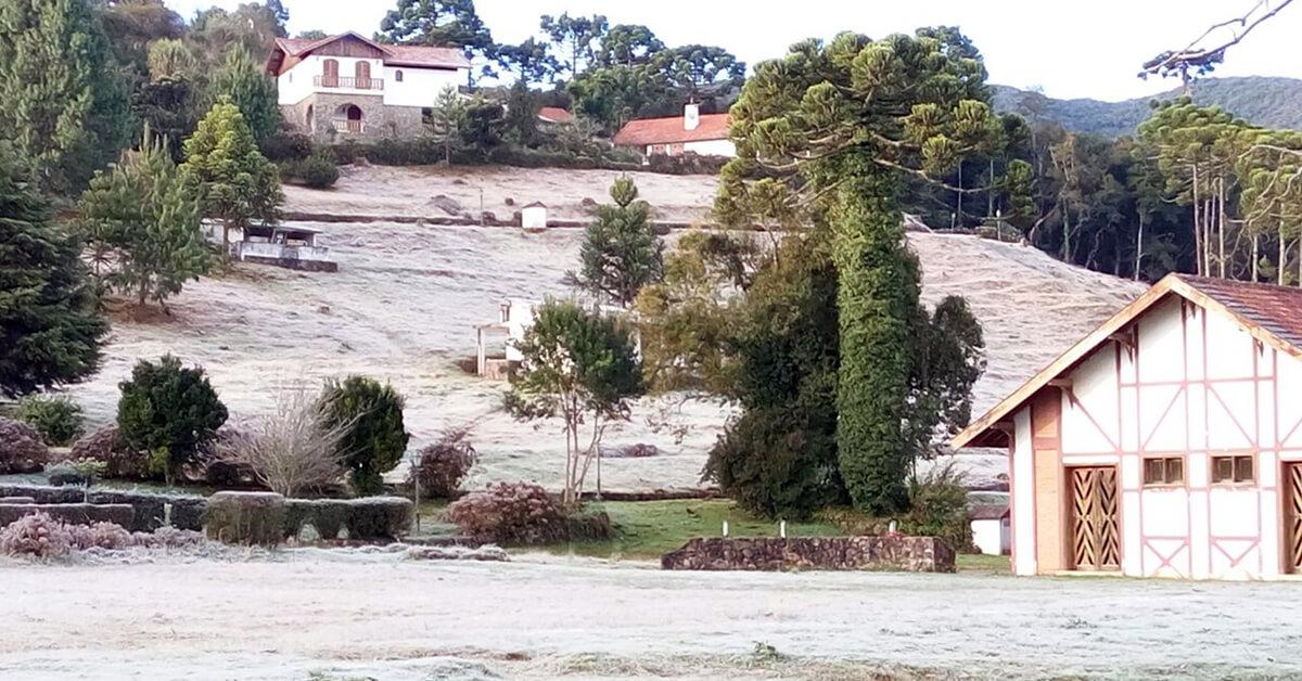 Monte Verde voltou a registrar a menor temperatura de Minas Gerais neste domingo (Foto: Jaci Leme)