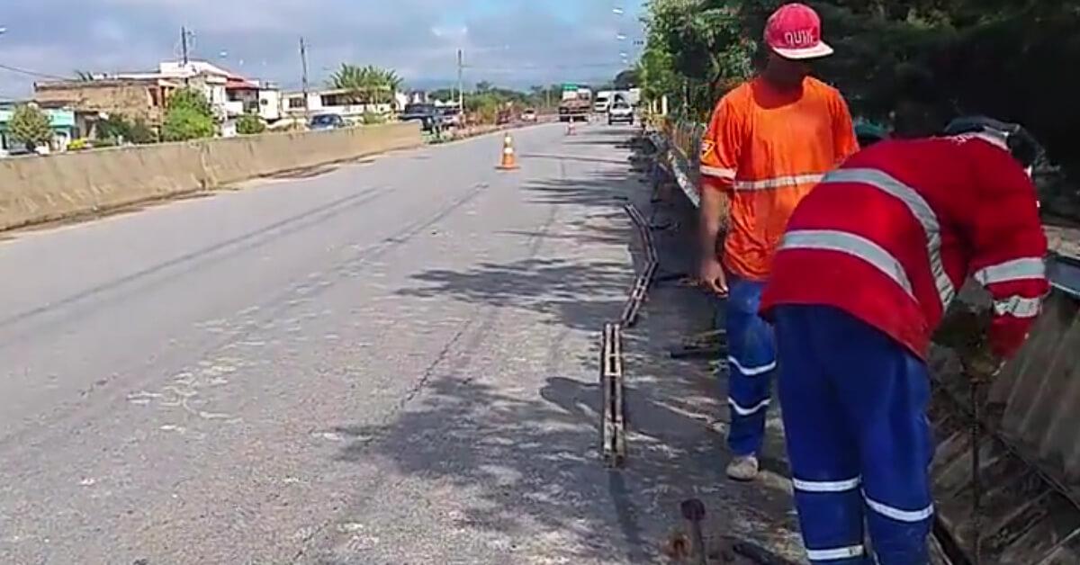 Obras foram retomadas (Imagem: Reprodução Facebook / Prefeitura)