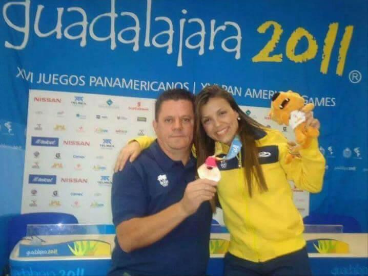 João do Karatê e Jéssica da Dalt, campeão Pan-americana de 2011 (Foto Arquivo)