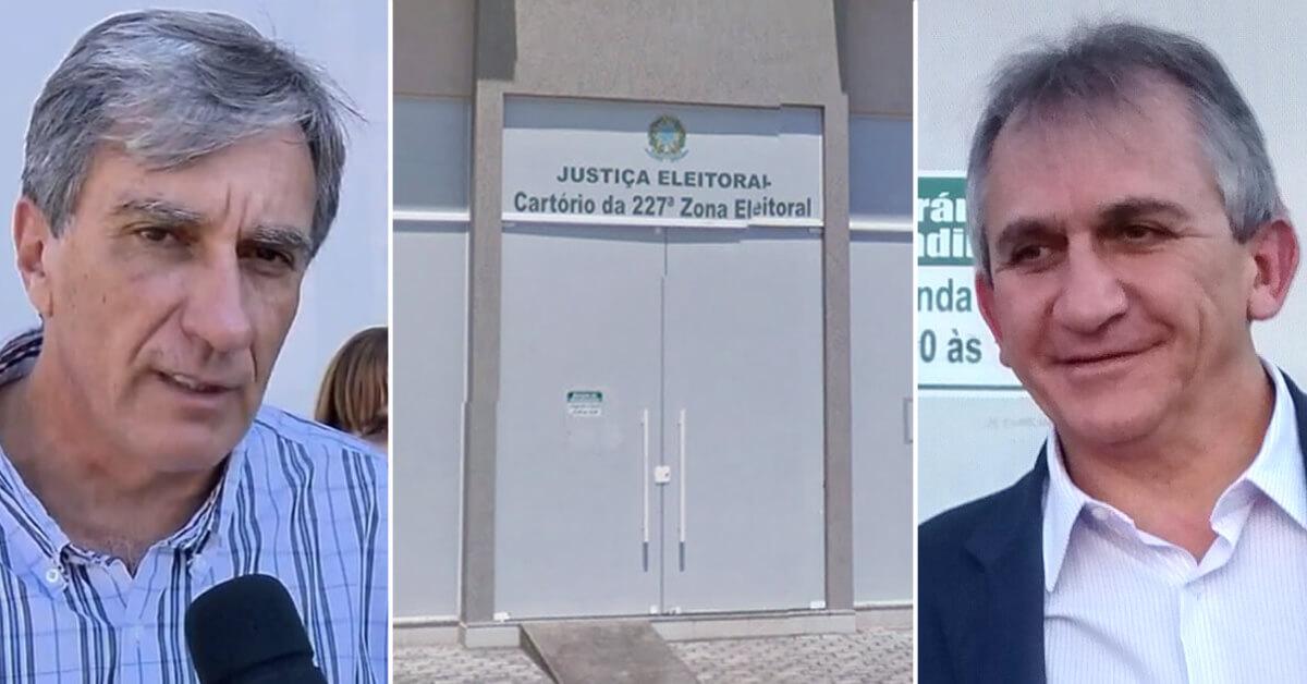 Disputa entre candidatura de Rafael Simões e Chico Rafael esta na justiça (Montagem: PousoAlegre .net)