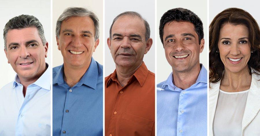 Os 5 candidatos enviaram suas principais bandeiras para Pouso Alegre (Foto: Montagem Pouso Alegre .net)