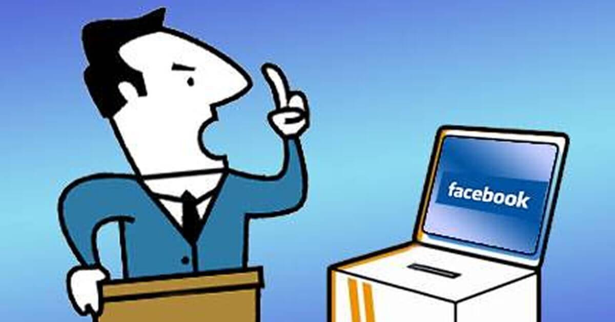 Facebook tem sido grande palco de campanha nessas eleições