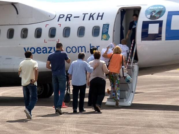 Aeroporto de Varginha será usado para projeto de expansão logística (Foto: Reprodução EPTV / Claudemir Camilo)