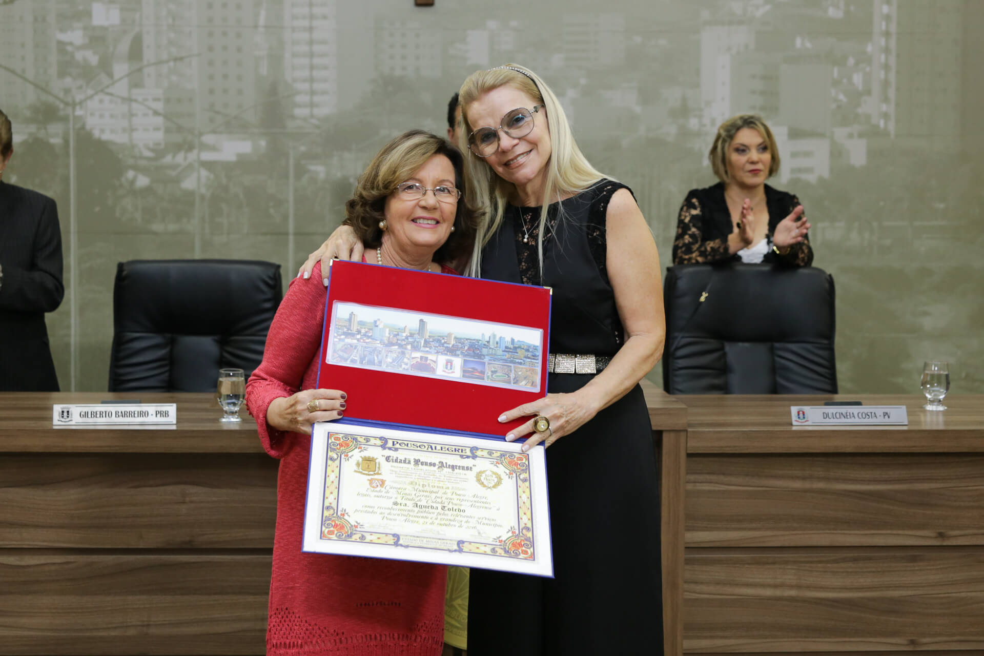 Águeda Toledo foi homenageada pela vereadora Lilian Diqueira