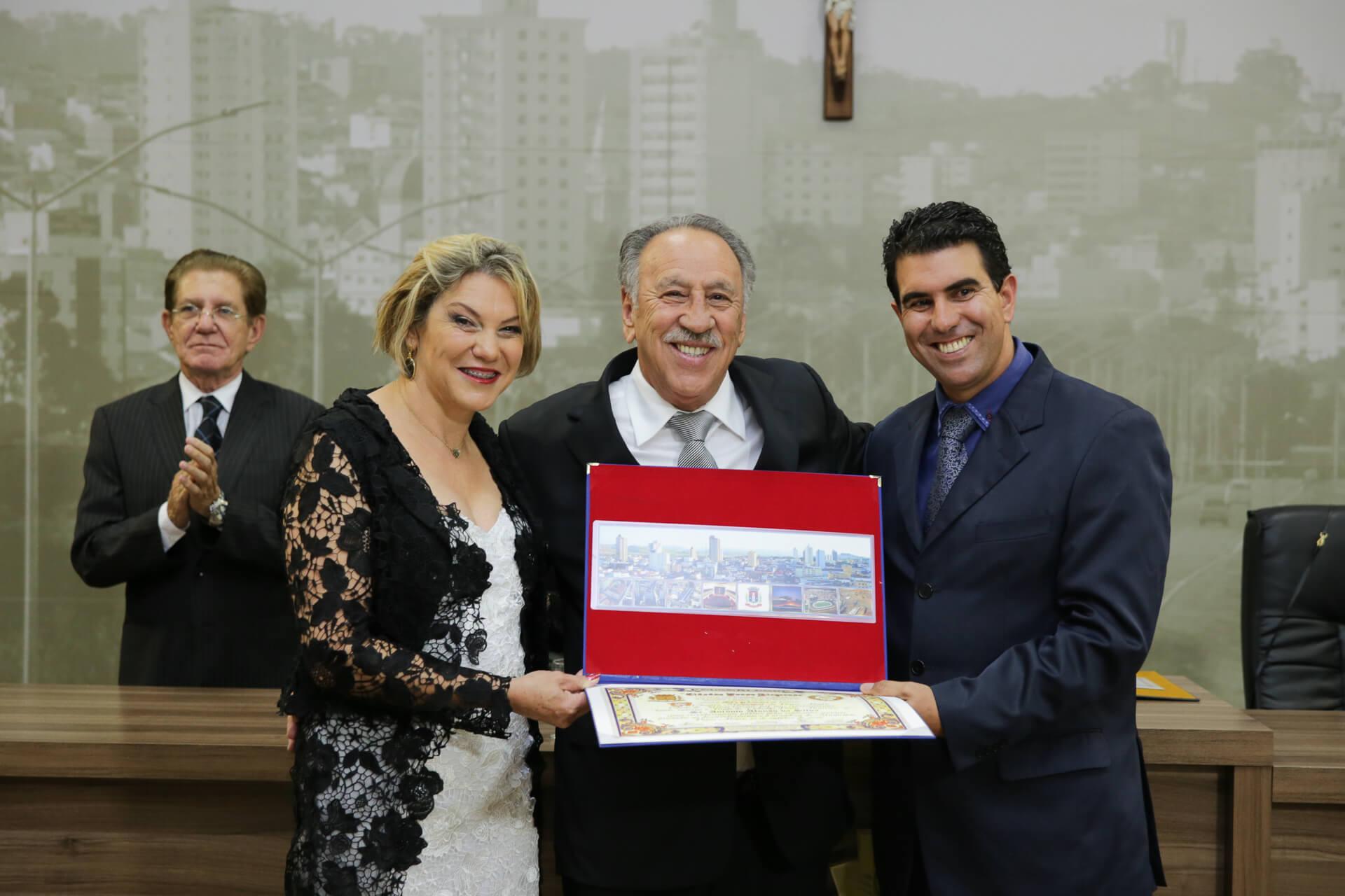 Antônio Afonso da Silva foi homenageado pela Mesa Diretora