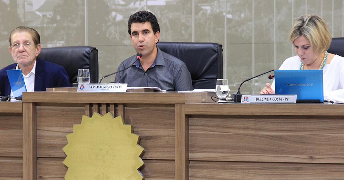 Presidente da Câmara, Maurício Tutty defendeu a votação dos projetos no dia