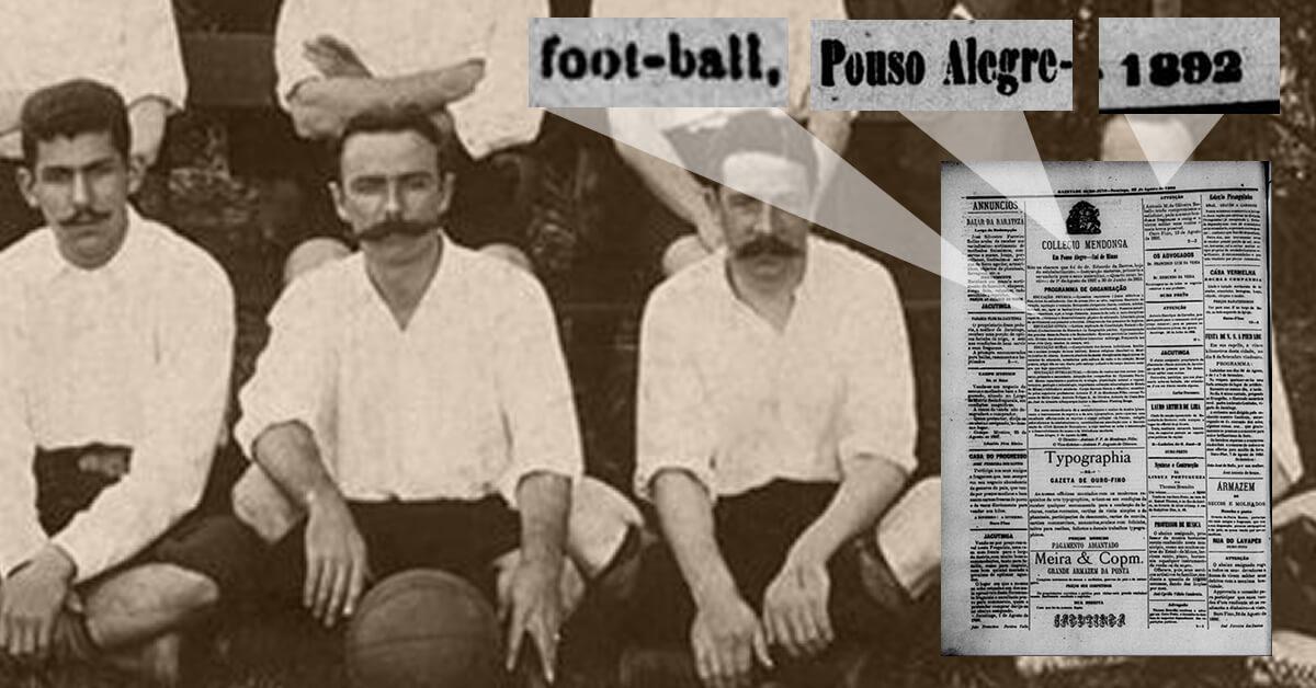 Charles Miller? Pouso Alegre já tinha futebol antes dele o trazer ao Brasil (Montagem: Pouso Alegre .net)