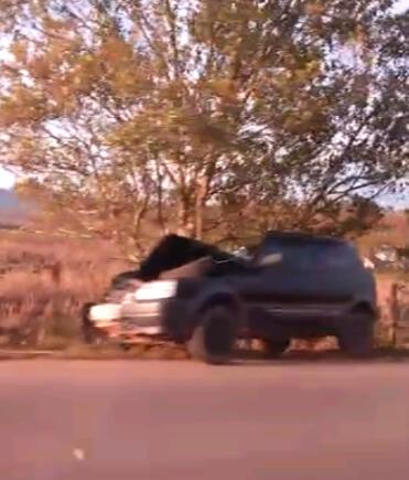 Trecho onde aconteceu o acidente não tem acostamento (Foto: Reprodução/ EPTV)