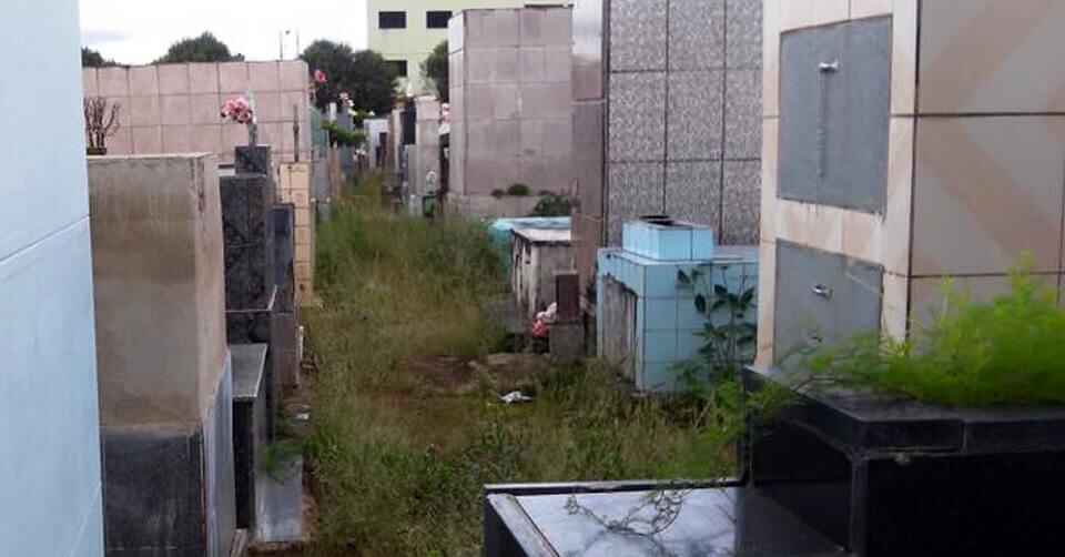 Cemitério em Pouso Alegre. Foto: Reprodução Facebook / Robson Tiburcio